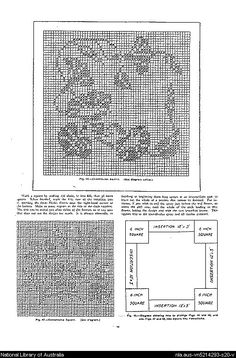 Mary Card's crochet book. no. 4 : containing designs & charts in the new filet crochet for Australian and New Zealand crochet workers.. - Page 19