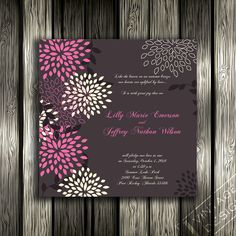 Printable invitation -- Bridal Shower, Birthday Party, Baby Shower, Wedding - CUSTOMIZED Digital File- Print As Many Copies As You Want. $8.88, via Etsy.
