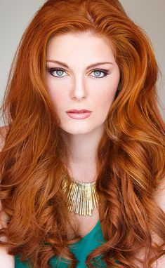 Red Hair. Beautiful almost natural style. Just let it flow.