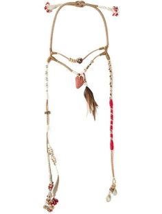 Etro Rope Long Feather Bead Necklace http://sellektor.com/all?q=etro