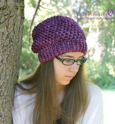 Crochet PATTERNS  Slouchy Hat Crochet Pattern  by PoshPatterns