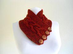 Tweed MenWomenunisex Chestnut neckwarmers autumn by likeknitting, $28.99