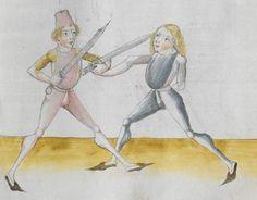 Lecküchner, Hans: Kunst des Messerfechtens Nordbayern, 1482 Cgm 582 Folio 247