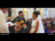 Novio le canta en la boda a la novia una canción de Los Secretos