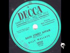Billy Wallace - Back street affair - Original - YouTube