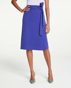 Shop Ann Taylor for effortless style and everyday elegance. Our Tie Waist Midi Wrap Skirt is the perfect piece to add to your closet. Work Skirts, Dresses For Work, Work Wardrobe Essentials, Pear Shaped Dresses, Midi Wrap Skirt, Floral Midi Dress, Skirt Outfits, High Waisted Skirt, Ann Taylor