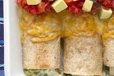 high protein, low carb chicken enchiladas from Mario Lopez