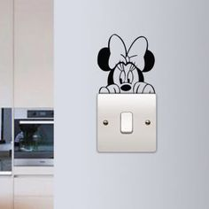Minnie Mouse Wall Sticker Children Kids Room Light Switch Wall Vinyl Decal Home Decor Cute Minnie Switch Removable Murals Cheap Wall Stickers, Wall Stickers Home Decor, Vinyl Wall Decals, Sticker Vinyl, Simple Wall Paintings, Wall Painting Decor, Kids Room Wall Art, Diy Wall Art, Kids Room Lighting