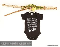 Bodys - Babybody mit Spruch | 6 - ein Designerstück von Dr_Grazer_und_Co bei DaWanda Bodysuit, Game Design, Onesies, Unisex, Kids, Etsy, Clothes, Fashion, Grandma And Grandpa
