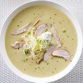 Aardappel-preisoep met gerookte kip - Libelle Cheeseburger Chowder, Soup Recipes, Menu, Cooking, Healthy, Taleggio, Foodies, Google, Dragon Flies
