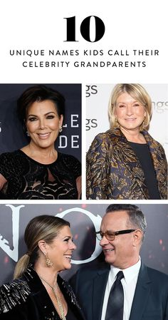 """Some of Hollywood's most sprightly actors and actresses refuse to be associated with the negatively connoted """"Grandma"""" or """"Grandpa"""". Here, ten celebrity grandparents and their fabulously unique names."""