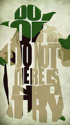 Yoda Typography Wallpaper
