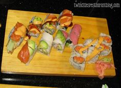 Akita Sushi & Hibachi: if you like the all you can eat sushi that still has a good quality then I recommend Akita. It's only 24.99/person and you pretty much get all the sushi you want to eat.  Located in Woodbury, MN.