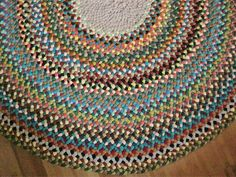 RESERVED Custom Braided Round Rug for bighouseplant by mrsginther, $250.00