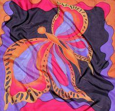 Pañuelo seda 70/70cm por DaniDSilk en Etsy