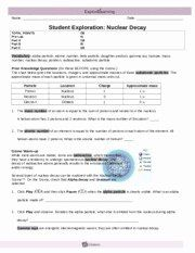 Nuclear Decay Worksheet Answers Key Best Of Nuclear Decay Gizmo Student Work Science 10 Nucl In 2020 Answer Keys Math Subtraction Worksheets Persuasive Writing Prompts