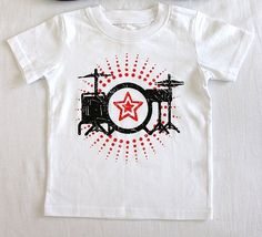 Drum kit T-shirt. Sizes 18months, 4 and 5. NOW JUST $6.50 Drum Kits, Drums, T Shirts For Women, Mens Tops, Clothes, Fashion, Outfits, Moda, Clothing