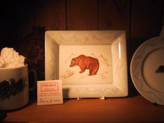 vide poche ours Fragile, Vide Poche, Limoges, Creations, Collections, Alps, China Painting, Bears, Mountain
