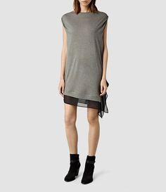 Women's Moir Dress (Anthracite) -