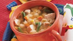 Looking for a hearty dinner? The check out this soup made with chicken and veggies that is ready in 25 minutes.