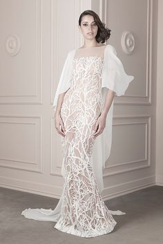Spring / Summer 2016 | João Rolo Haute Couture Dresses, Spring Summer 2016, Formal Dresses, Wedding Dresses, White Dress, Collection, Coral, Fashion, Rolo