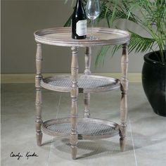Uttermost Kendellen Antique Accent Table