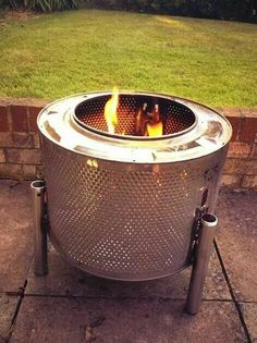 Fire pit made from dryer drum