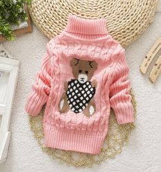 a207a1e3dca7 Boys Girls Autumn Winter Turtleneck lovely Sweater Outerwear Baby Girls  Sweater