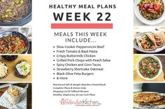 Check out this week's healthy, vegetarian, and low carb meal plans all with nutritional info, Weight Watchers PP, and shopping lists!