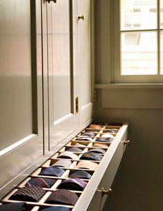 Closet Features That Make Storage A Breeze : Tie storage #calclosets #design