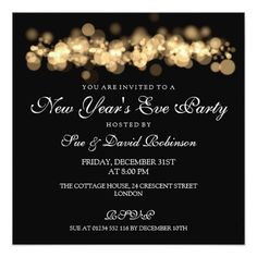 new years eve party gold bokeh lights card gold bokeh bokeh lights holiday party