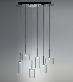 Modern Axo Light Spillray 6 Light Chandelier - Home Furniture Design Ideas Linear Pendant Lighting, Multi Light Pendant, Contemporary Pendant Lights, Modern Chandelier, Chandelier Lighting, Pendant Lamp, Interior Lighting, Modern Lighting, Italian Lighting