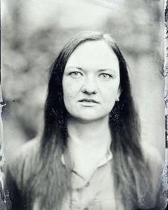 Portrait of Inga: Artist designer photographer Ambrotype on black glass 15 seconds Eastman Kodak 2D www.kolodium.cz #kolodium #ambrotype #naturallight #trebic #czech