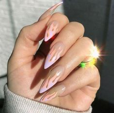 TOP AMAZING GEL NAILS ART OF 2019 - Page 24 of 41 The simple spike design is a chic hue that suits all nail lengths and shapes. This nail art is characterized by two shades of gray on long, pointed nails. Use gray to make the shape Read more… Gorgeous Nails, Pretty Nails, Amazing Nails, Hair And Nails, My Nails, Fire Nails, Dream Nails, Nagel Gel, Cute Acrylic Nails