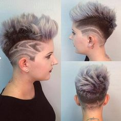 """""""Look at this pixie cut on @cghairdesign ,  Cut by @andrewdoeshair design by @ian_stagrammm"""""""