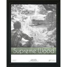 """Beachcrest Home Rectangle Solid Wood Picture Frame Size: 22"""" x 28"""", Color: Espresso"""