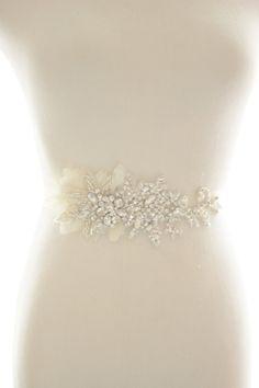 Crystal Rhinestone Beaded Belt Bridal Sash by abigailgracebridal $289