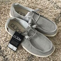 Hey Dude Light Grey Chambray Wendy Shoes