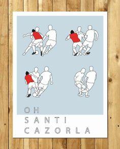 Santi Cazorla print / Cat Forbes