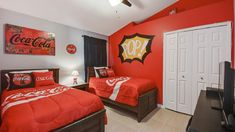 Welcome to The Coca Cola Villa, 3 miles from Disney World, private pool/spa - Four Corners Orlando Vacation, Orlando Florida, Universal Studios Parking, 2 Twin Beds, Fantasy House, Villa Design, King Beds, Luxurious Bedrooms, Luxury Villa