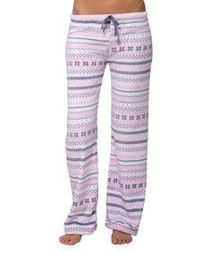 Look at this #zulilyfind! Pink Fair Isle Royal Plush Pajama Pants #zulilyfinds