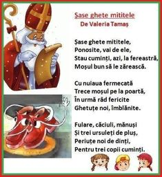 Christmas Messages, Saint Nicholas, Kindergarten Worksheets, Kids Education, Nursery Rhymes, Toddler Activities, Kids And Parenting, Poems, Preschool