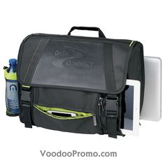 Recycled plastic and leather  messenger bag  http://www.voodoopromo.com/produits-wow.html
