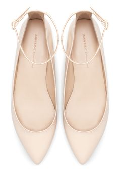 Pointed ballet flats with straps, $40