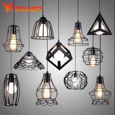 Luzes do vintage estilo retro industrial pendant iluminação pendente de iluminação para restaurante lustres luminarias pendente en hanglampen