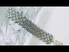 Pearl and seed bead beaded cuff bracelet tutorial Beaded Bracelets Tutorial, Beaded Cuff Bracelet, Handmade Bracelets, Seed Bead Projects, Beaded Jewelry Patterns, Seed Bead Jewelry, Jewelry Making Tutorials, Jewelery, Pearl