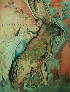 "Saatchi Online Artist Rory Running; Drawing, ""Grateful Rabbit"""