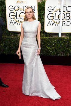 The Golden Globes' Most Stunning Red Carpet Moments #refinery29  http://www.refinery29.com/2015/01/80582/golden-globes-2015-red-carpet-best-dressed-celebrities#slide-2  Diane Kruger