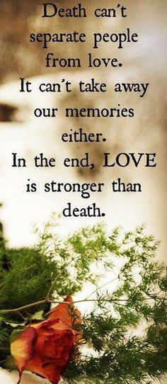 The only thing stronger than my grief is the love I have for you