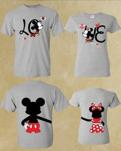 Soul And Mate love Mickey Minnie Couple by forevercustomtees *yes, we will be wearing these in Disney!*